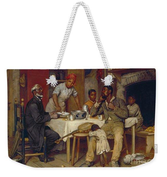 A Pastoral Visit Weekender Tote Bag