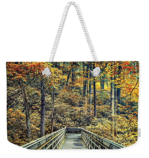 A Path Into Autumn Weekender Tote Bag