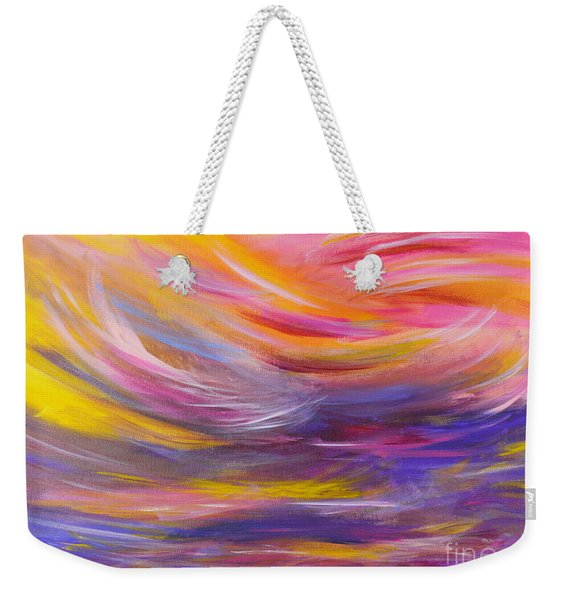 A Peaceful Heart - Abstract Painting Weekender Tote Bag