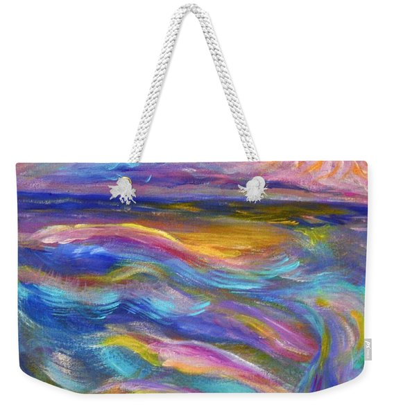 A Peaceful Mind - Abstract Painting Weekender Tote Bag