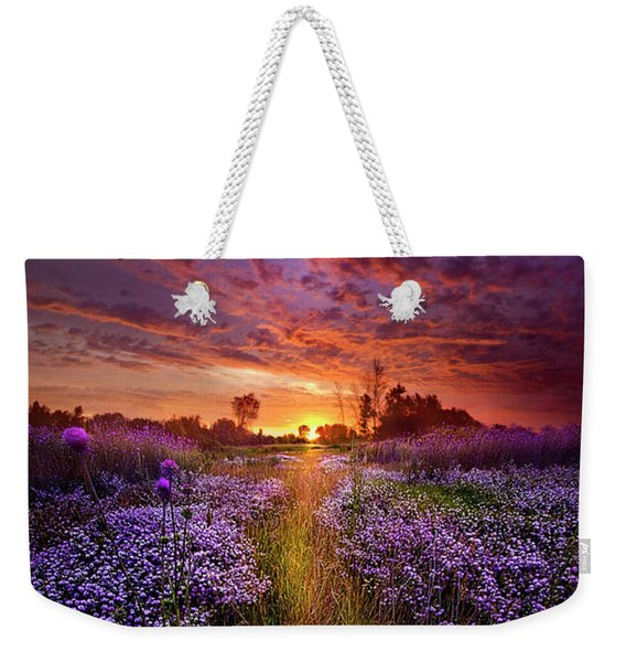 A Peaceful Proposition Weekender Tote Bag