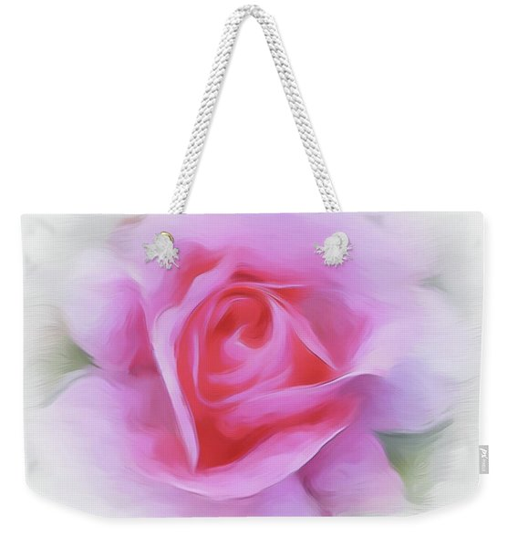 A Perfect Pink Rose Weekender Tote Bag