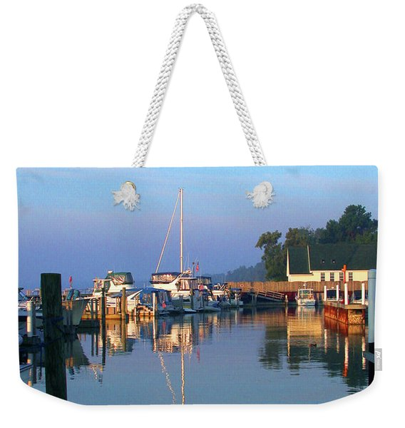 A Perfect Tawas Morning Weekender Tote Bag