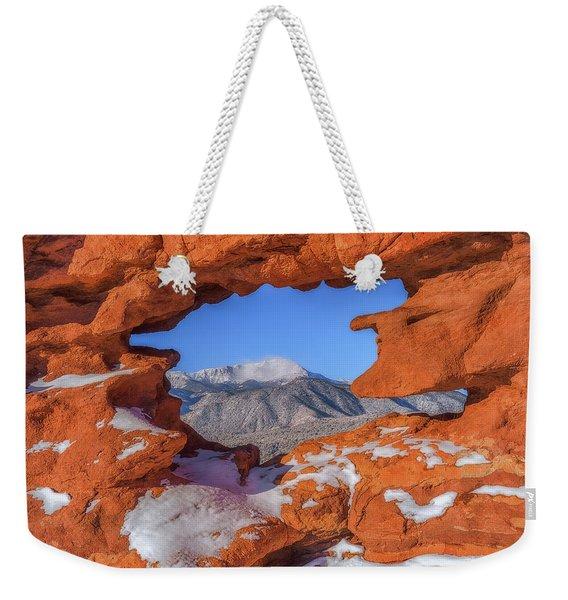 A Pikes Peak View Weekender Tote Bag