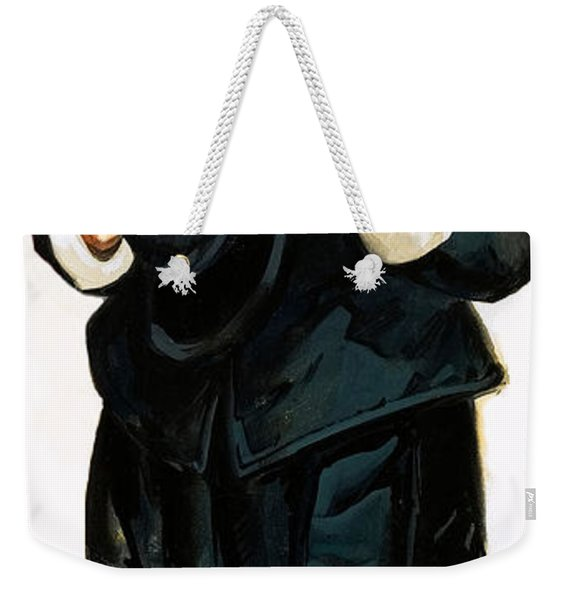 A Pilgrim Father Giving Thanks Weekender Tote Bag