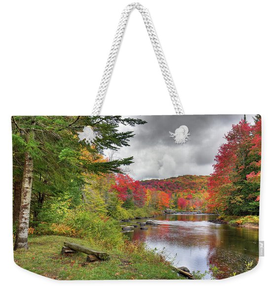 A Place To View Autumn Weekender Tote Bag