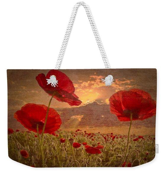 A Poppy Kind Of Morning Weekender Tote Bag