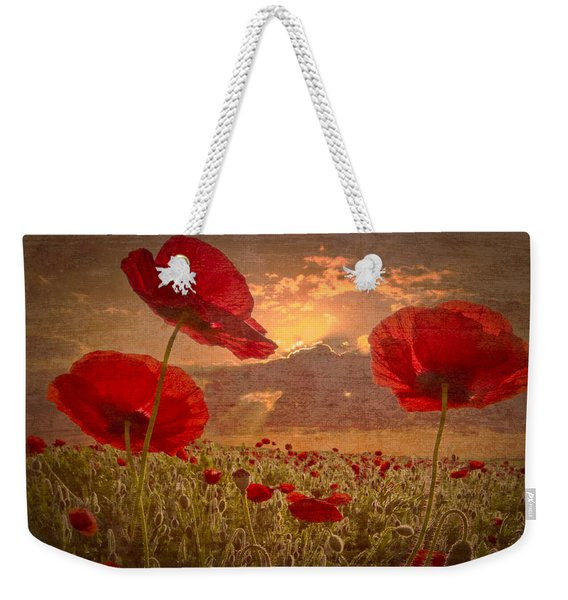 A Poppy Kind Of Morning Weekender Tote Bag