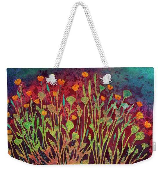 A Poppy Tapestry Weekender Tote Bag