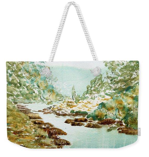 A Quiet Stream In Tasmania Weekender Tote Bag