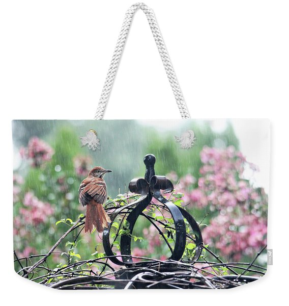 A Rainy Summer Day Weekender Tote Bag