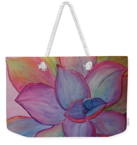 Weekender Tote Bag featuring the painting A Reason For Being by Sandi Whetzel
