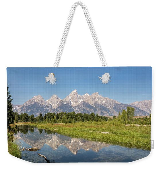 A Reflection Of The Tetons Weekender Tote Bag