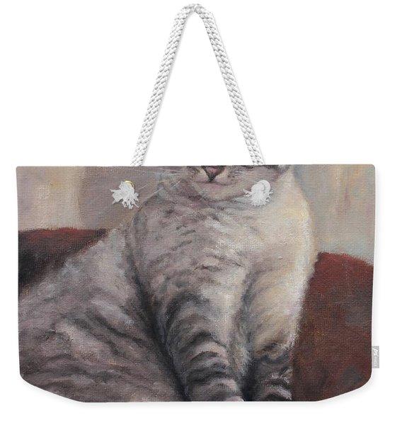 A Regal Pose Weekender Tote Bag