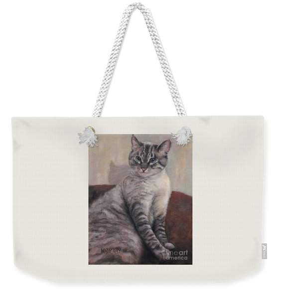 A Regal Pose Weekender Tote Bag