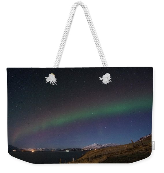 A Ribbon Of Northern Lights Weekender Tote Bag