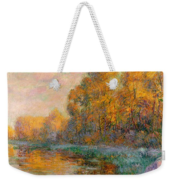 A River In Autumn Weekender Tote Bag