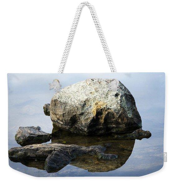 A Rock In Still Water Weekender Tote Bag
