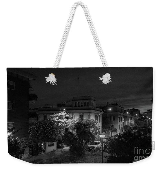 A Roman Street At Night Weekender Tote Bag