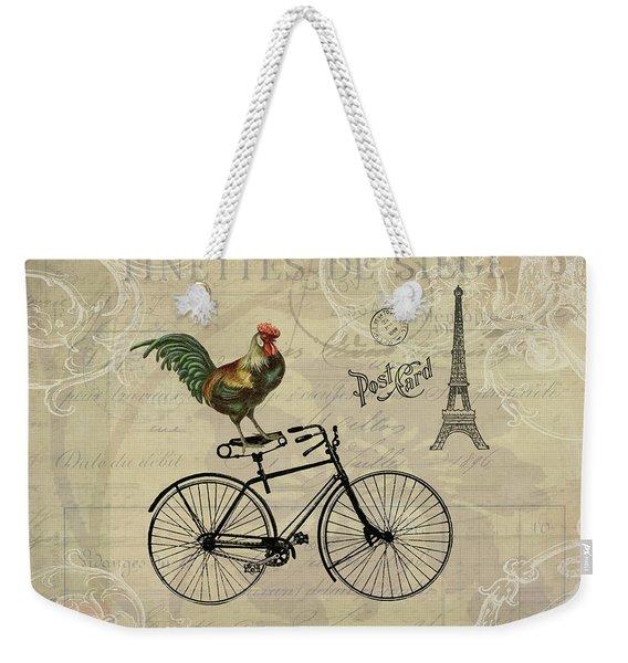 A Rooster In Paris Weekender Tote Bag