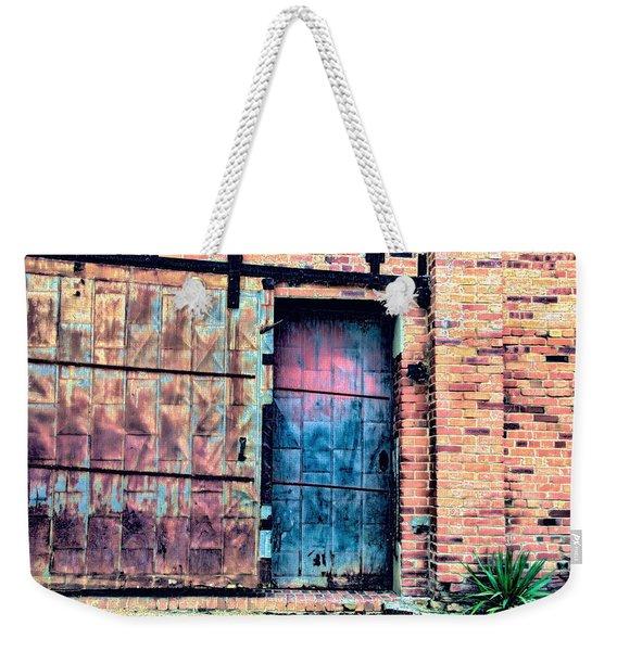 A Rusty Loading Dock Door Weekender Tote Bag