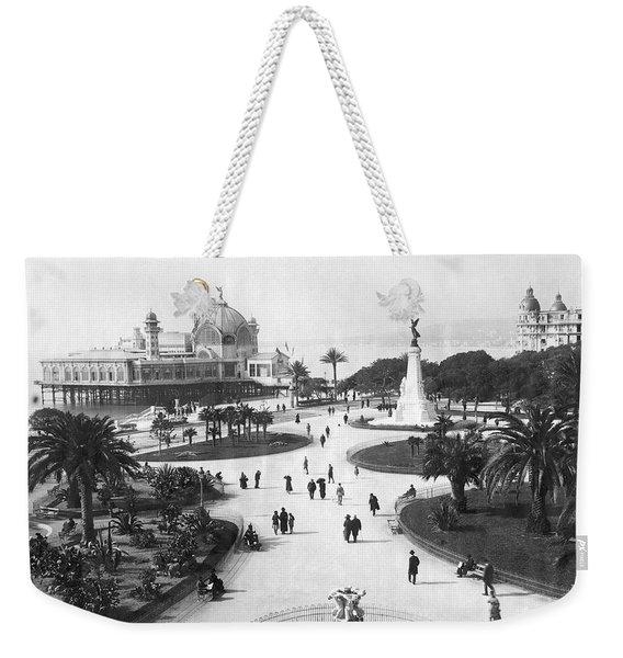 A Scene In Nice, France Weekender Tote Bag