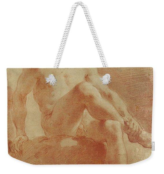 A Seated Male Nude  Detail Weekender Tote Bag