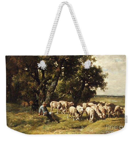 A Shepherd And His Flock Weekender Tote Bag