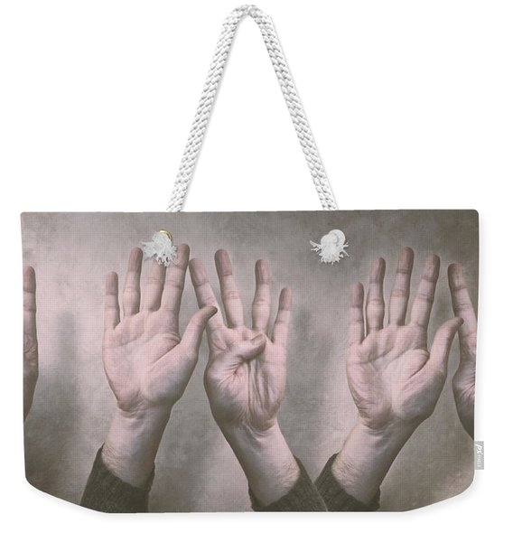 A Show Of Hands Day 197 Weekender Tote Bag