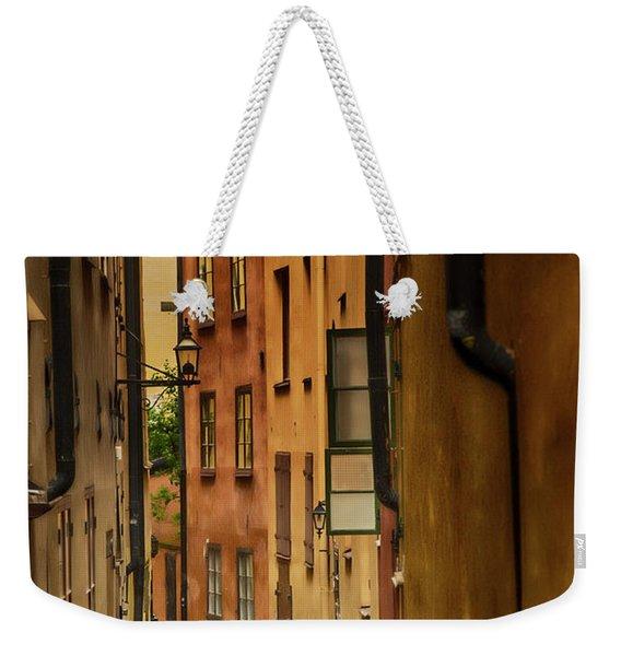 A Side Street In Stockholm Weekender Tote Bag