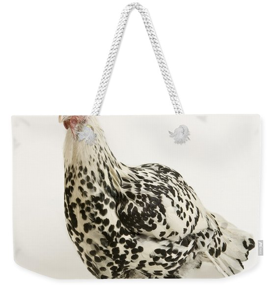 A Silver Spangled Hamburg Chicken Weekender Tote Bag