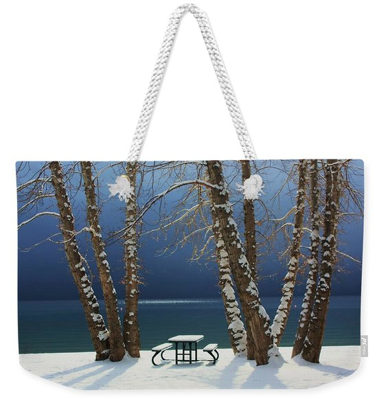Weekender Tote Bag featuring the photograph A Simple Winter Scene by Sean Sarsfield