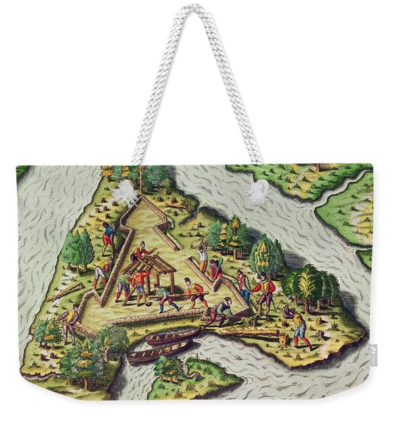 A Site For The Fort Is Chosen Weekender Tote Bag