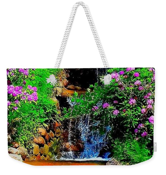 A Small Waterfall In Hbg Sweden Weekender Tote Bag