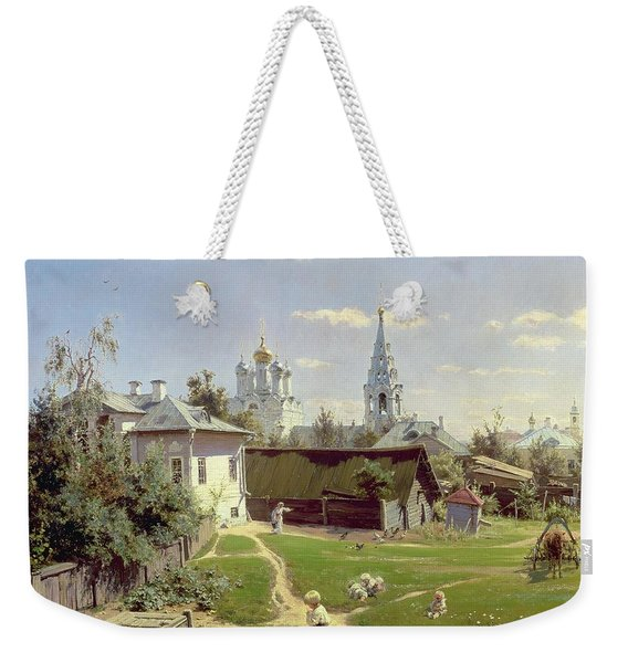 A Small Yard In Moscow Weekender Tote Bag
