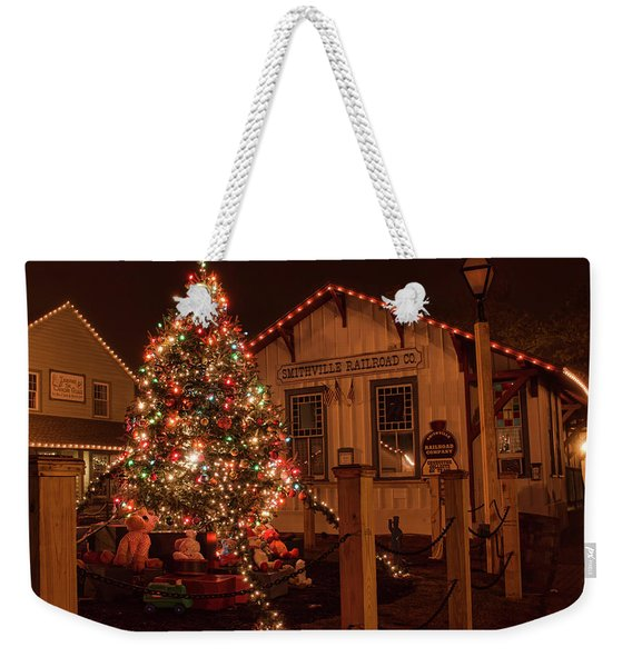 A Smithville Christmas Weekender Tote Bag