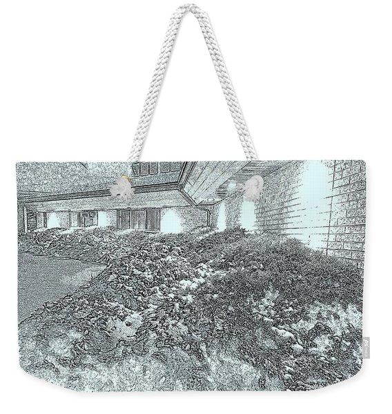 A Snowy Night Weekender Tote Bag