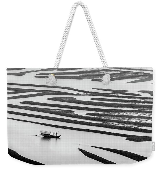 A Solitary Boatman. Weekender Tote Bag