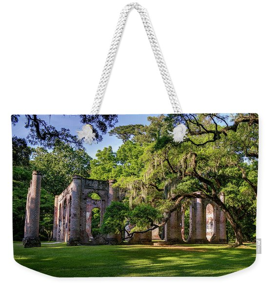 A Special Place Old Sheldon Church Ruins Weekender Tote Bag