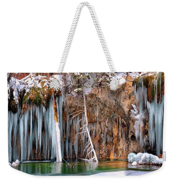 A Spring That Knows No Summer. - Hanging Lake Print Weekender Tote Bag