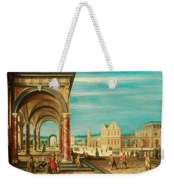 A Square With Imaginary Buildings Weekender Tote Bag