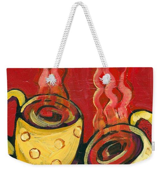 A Steaming Romance Weekender Tote Bag