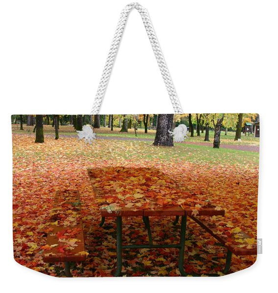 A Still Fall Weekender Tote Bag