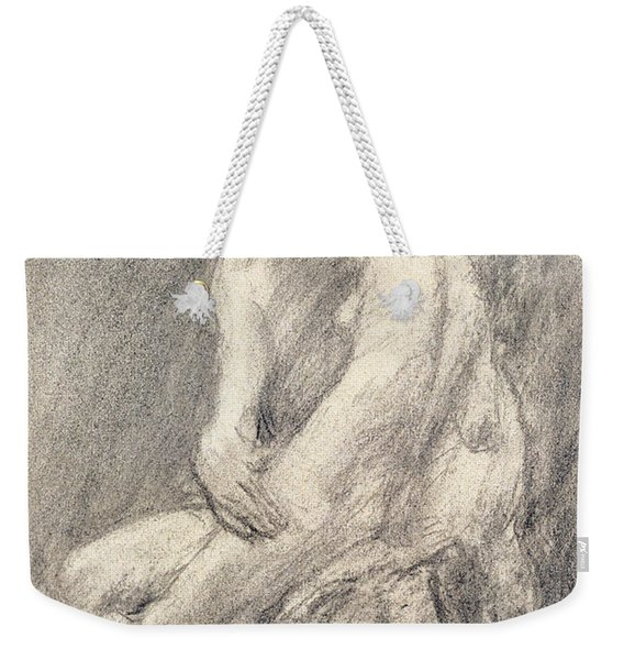 A Study Of Rodin's Kiss In His Studio Weekender Tote Bag