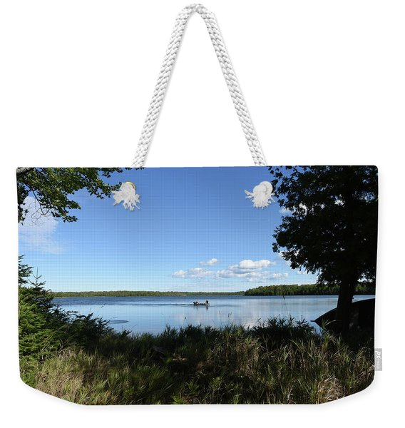 Weekender Tote Bag featuring the photograph A Successful Day by Sally Sperry