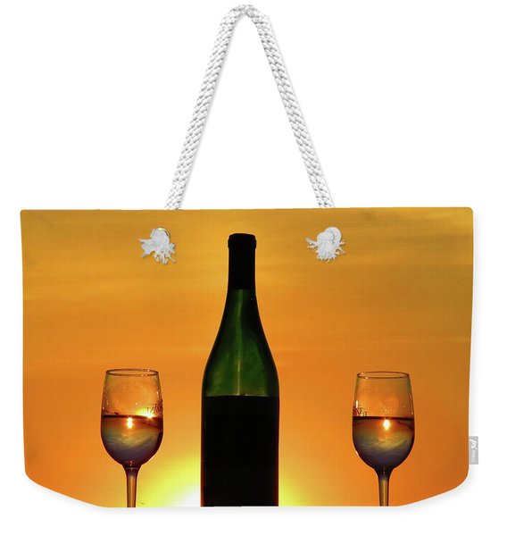 A Sunset In Each Glass Weekender Tote Bag