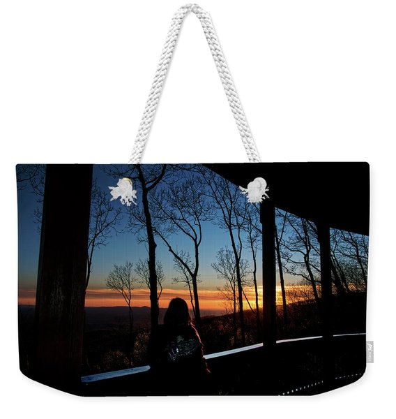A Sunset View Weekender Tote Bag
