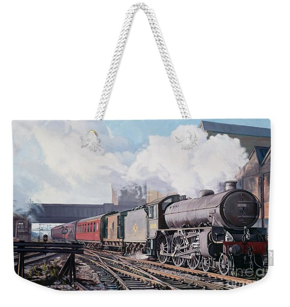 A 'thompson' B1 Class Moving Empty Stock On A Cold February Morning Weekender Tote Bag