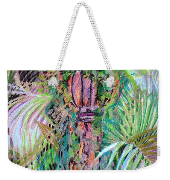 A Tropical Basket On A Post Weekender Tote Bag