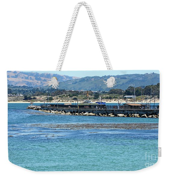 A Tropical Day At The Monterey Coast Guard Pier Weekender Tote Bag